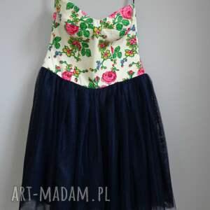 folk sukienki niebieskie sukienka design aneta larysa