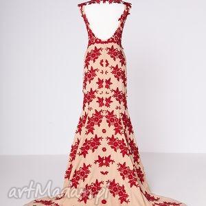 frapujące sukienki haft henriette - suknia