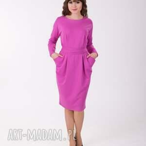 intrygujące sukienki bawełna ida sukienka z kieszeniami