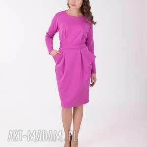 różowe sukienki lalu ida sukienka z kieszeniami, liliowa