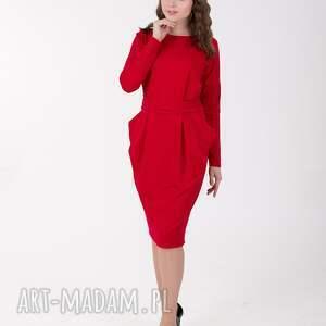 sukienka sukienki czerwone ida z kieszeniami
