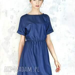 sukienki sukienka jeansowa na gumie