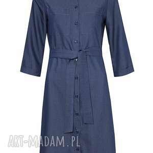 sukienki midi jeansowa szmizjerka