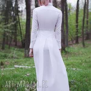 Monika Jaworska Jedwabna biała koszulowa
