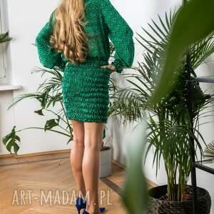 sukienki jedwabna zielona mini sukienka doll