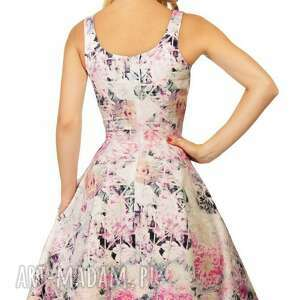 gustowne sukienki kwiaty sukienka liza midi lavinia róż