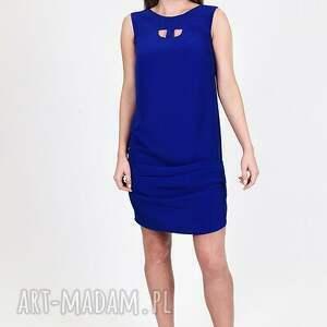 sukienki sukienka kobaltowa z wodą w tyle