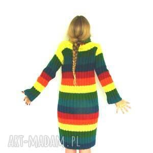 ciepła sukienki kolorowa sukienka