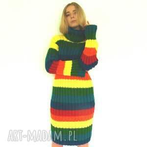 ciekawe sukienki sukienka kolorowa