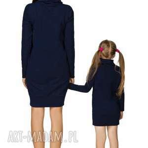 sukienki dresowa komplet dla mamy i córki - sukienka