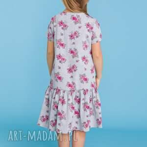 kolorowe sukienki sukienka komplet dla mamy i córki -