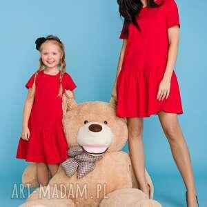 niekonwencjonalne sukienki sukienka komplet dla mamy i córki,