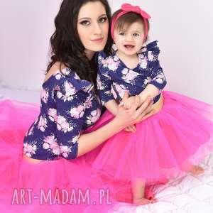 urokliwe sukienki mamaicórka komplet rosa dla mamy i córki