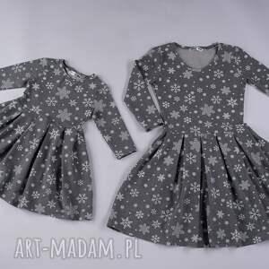 pomysł na świąteczny upominek komplet sukienek śnieżynki
