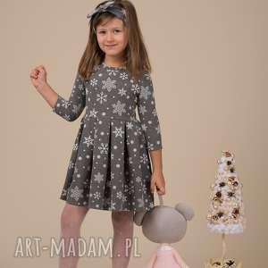 Mrugala pomysł na świąteczny upominek dla mamy i córki komplet sukienek śnieżynki