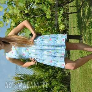 ciekawe sukienki kwiaty komplet sukienek zuza dla mamy