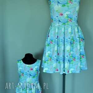 kwiaty sukienki komplet sukienek zuza dla mamy