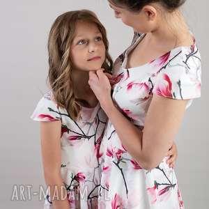 handmade sukienki sukienkarozkloszowan komplet sukienek magnolia