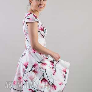 handmade sukienki mamaicórka komplet sukienek magnolia