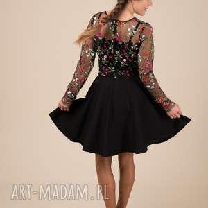 czarne sukienki haft komplet sukienek emily 2