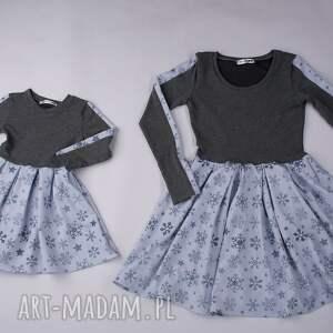 komplet sukienek merry śnieżynki