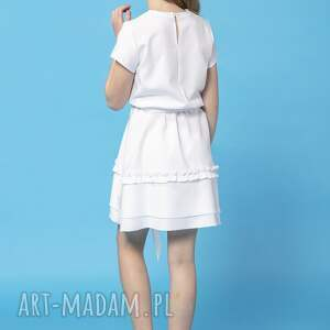 handmade sukienki sukienek komplet z ozdobną falbanką