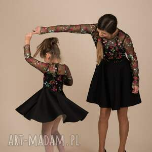 ręcznie zrobione sukienki rozkloszowane komplet sukienek emily 2