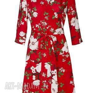 unikalne sukienki sukienka kopertowa w kwiaty