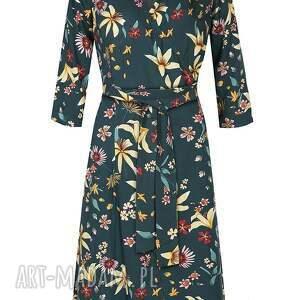 swobodna sukienki kopertowa sukienka midi