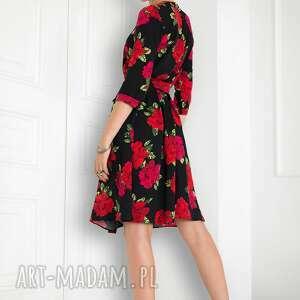 oryginalne sukienki sukienka kopertowa w róże
