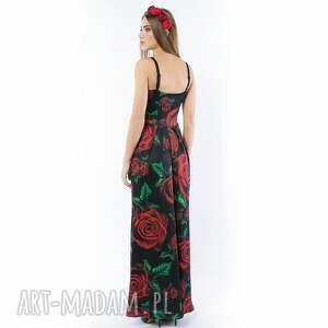 sukienki maxi królowa róża / black - suknia