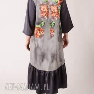 falbanka sukienki kwiatowa sukienka z marszczoną