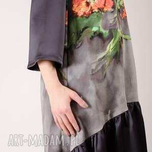 ręcznie zrobione sukienki kwiatowy kwiatowa sukienka z marszczoną