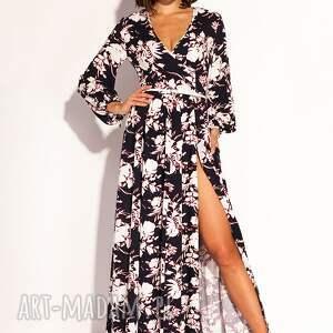 czarne sukienki kwiaty sukienka oriana