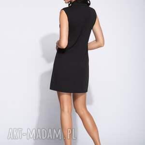 midi sukienki dwurzędowa sukienka z dużymi guzikami