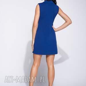 Bien Fashion Lekka sukienka bez rękawów z ozdobnymi guzikami midi