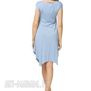 3b81cf0c09 niebanalne sukienki - letnia sukienka z asymetrycznym dołem t137