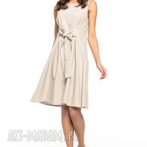 intrygujące sukienki letnia sukienka wiązana z imitacji