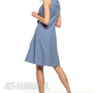 sukienka letnia wiązana z imitacji