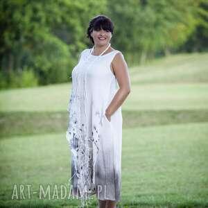szare sukienki podwójna a w zasadzie potrójna (halka) letnia
