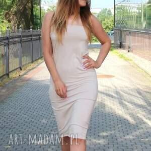 wyjątkowe sukienki midi letnia zwiewna sukienka tuba kolor