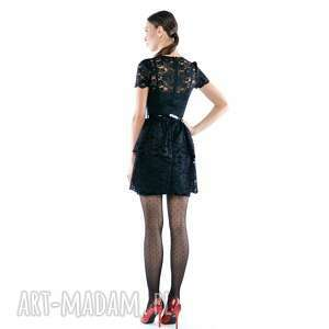 sukienki czarna kobieca i ponadczasowa sukienka mini z czarnej