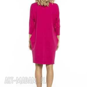 sukienka luźna z kieszeniami, t247