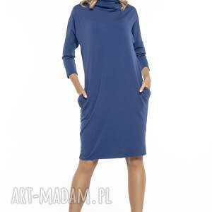 trendy sukienki luźna sukienka z golfem