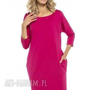 eleganckie sukienki luźna sukienka z kieszeniami, t247