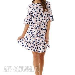 sukienki elegancka sukienka luźna z wiązaniem