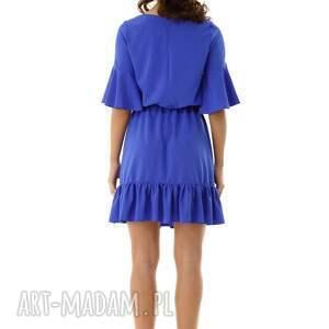 niebanalne sukienki elegancka sukienka luźna z wiązaniem
