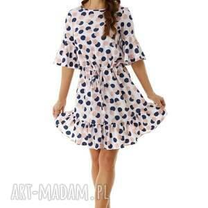 kolorowe sukienki elegancka sukienka luźna z wiązaniem