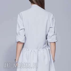 handmade sukienki sukienka luźna h005 szary