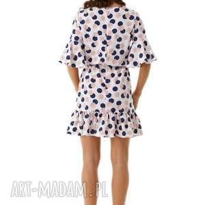 modna sukienka sukienki luźna z wiązaniem